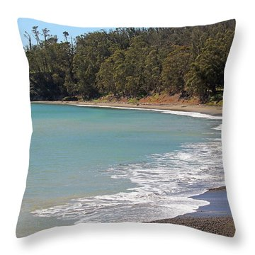 Throw Pillow featuring the photograph San Simeon Cove by Art Block Collections