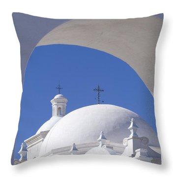 San Xavier Del Bac Throw Pillow by Sandra Bronstein