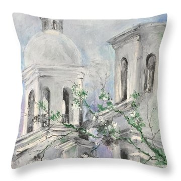 San Xavier Mission Throw Pillow