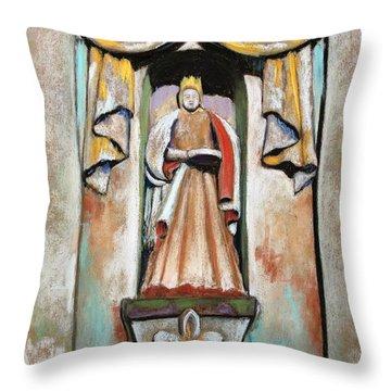 San Xavier Statue Throw Pillow by M Diane Bonaparte