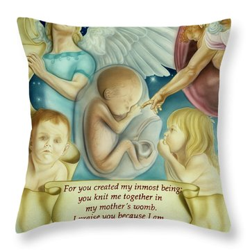 Sanctity Of Life Throw Pillow