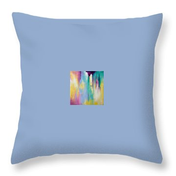 Throw Pillow featuring the painting Sanctuary #2 by Suzzanna Frank