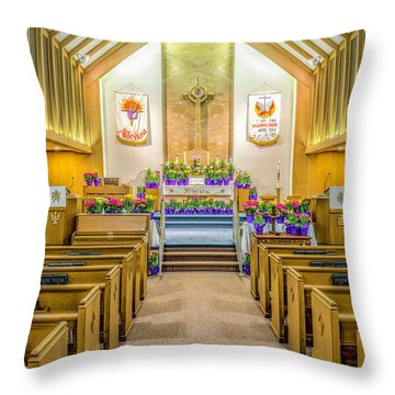 Throw Pillow featuring the photograph Sanctuary At Easter by Nick Zelinsky