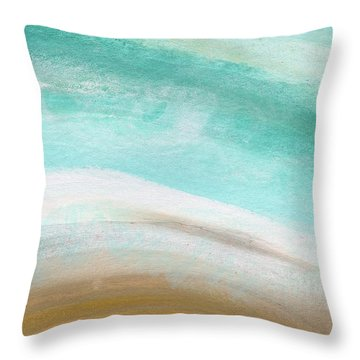 Sand And Saltwater- Abstract Art By Linda Woods Throw Pillow