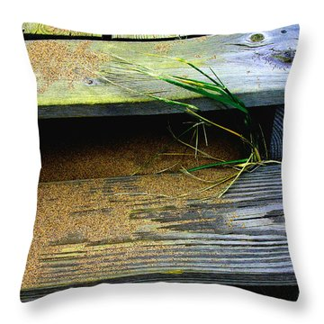 Sand  And  Steps  Throw Pillow