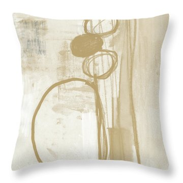 Sand And Stone 2- Contemporary Abstract Art By Linda Woods Throw Pillow