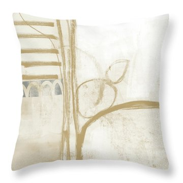Sand And Stone 3- Contemporary Abstract Art By Linda Woods Throw Pillow