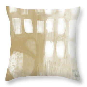 Sand And Stone 4- Contemporary Abstract Art By Linda Woods Throw Pillow