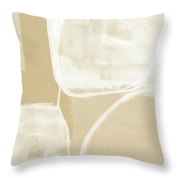 Sand And Stone 5- Contemporary Abstract Art By Linda Woods Throw Pillow