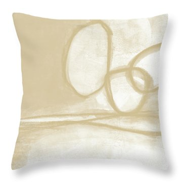 Sand And Stone 6- Contemporary Abstract Art By Linda Woods Throw Pillow