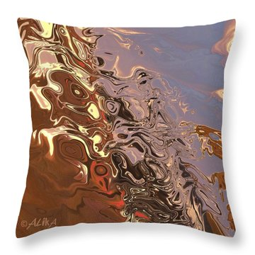 Sand Bank Throw Pillow by Alika Kumar