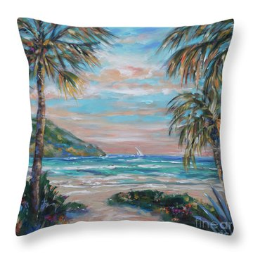 Sand Bank Bay Throw Pillow