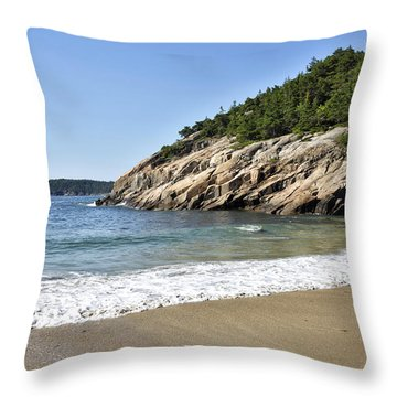 Sand Beach - Acadia National Park - Maine Throw Pillow
