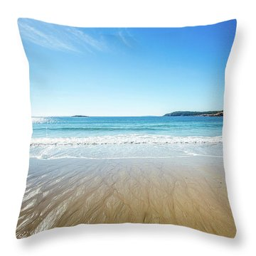 Sand Beach Throw Pillow