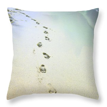 Throw Pillow featuring the photograph Sand Between My Toes by Betty LaRue
