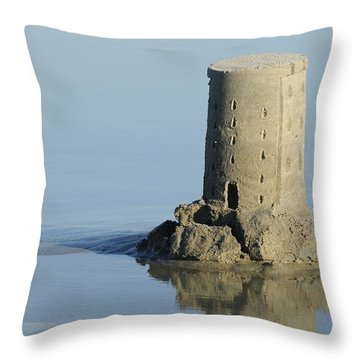 Sand Castle Island Throw Pillow
