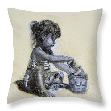 Sand Castles Throw Pillow
