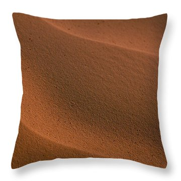Sand Curves Throw Pillow