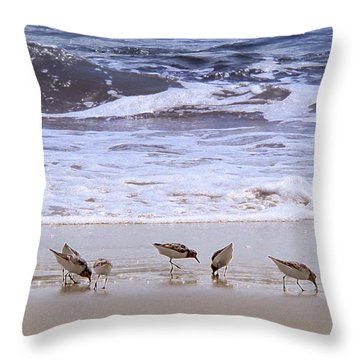Sand Dancers Throw Pillow by Steven Sparks