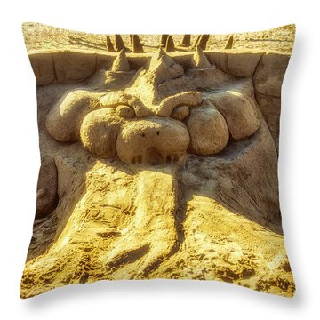 Sand Devil Throw Pillow