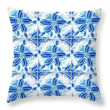 Sand Dollar Delight Pattern 3 Throw Pillow
