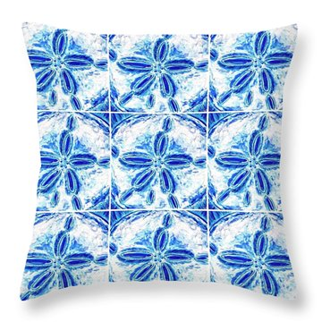 Sand Dollar Delight Pattern 3 Throw Pillow