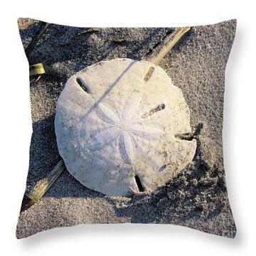 Sand Dollar Throw Pillow by Katie Monzel