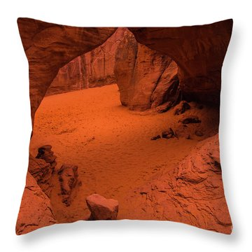 Sand Dune Arch - Arches National Park - Utah Throw Pillow