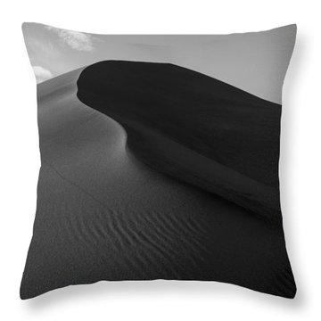 Sand Dune Beetle Tracks Throw Pillow