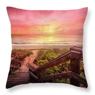 Throw Pillow featuring the photograph Sand Dune Morning by Debra and Dave Vanderlaan