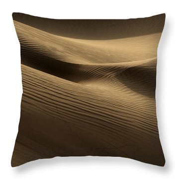 Sand Dune Throw Pillow by Phil Crean