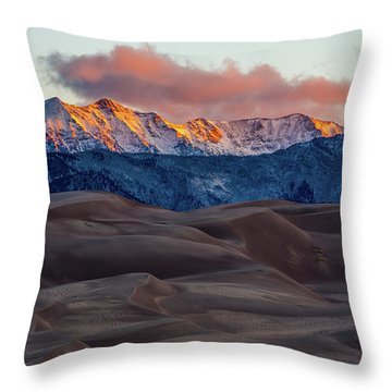 Sand Dune Sunrise Throw Pillow