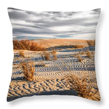Sand Dune Wind Carvings Throw Pillow