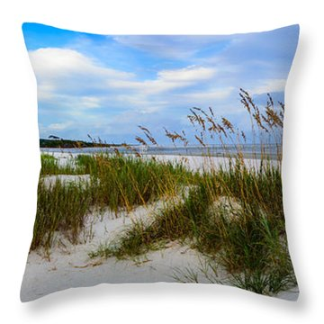 Sand Dunes And Blue Skys Throw Pillow
