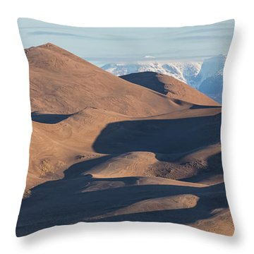 Sand Dunes And Rocky Mountains Panorama Throw Pillow by James BO Insogna
