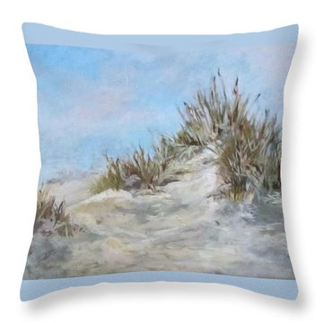 Sand Dunes And Salty Air Throw Pillow