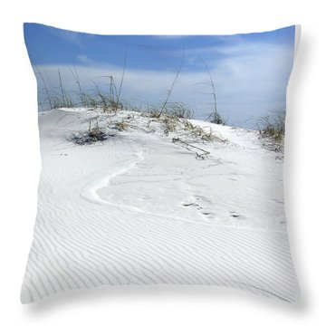 Throw Pillow featuring the photograph Sand Dunes Dream 2 by Marie Hicks