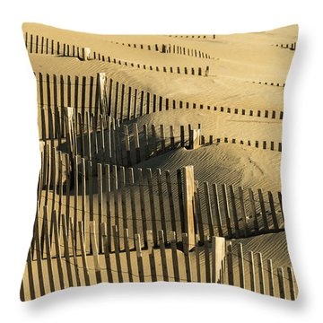 Sand Dunes Of The Outer Banks Throw Pillow