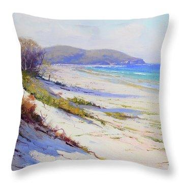 Sand Dunes Port Stephens Nsw Throw Pillow