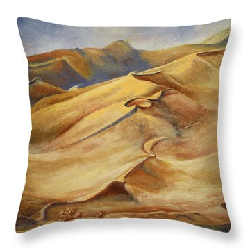 Sand Dunes Throw Pillow