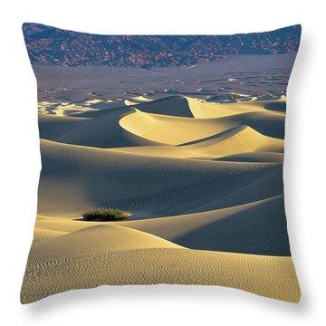 Sand Dunes Sunrise Throw Pillow