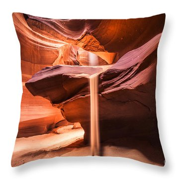 Sand Falls In Antelope Canyon Throw Pillow