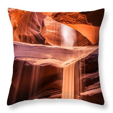 Sand Falls Vertical Throw Pillow