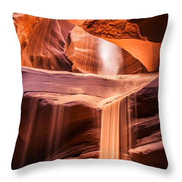 Sand Falls Vertical Throw Pillow