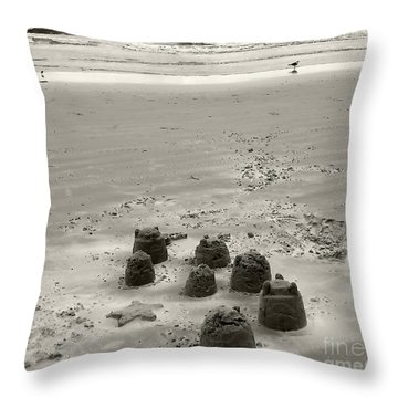 Throw Pillow featuring the photograph Sand Fun by Raymond Earley
