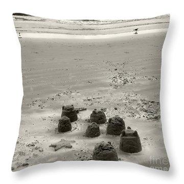 Sand Fun Throw Pillow
