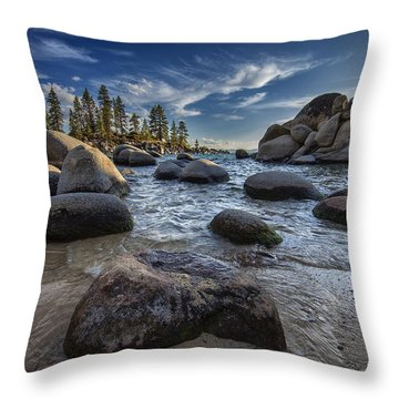 Sand Harbor II Throw Pillow by Rick Berk