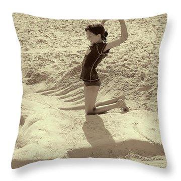Sand Horse Throw Pillow