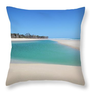 Sand Island Paradise Throw Pillow
