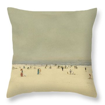Sand Sea And Sky A Summer Phantasy Throw Pillow